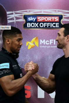 Joshua v Klitschko 29 April 2017